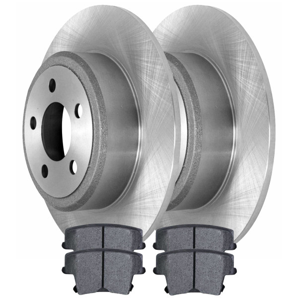 [Rear Set] 2 Rotors & 4 Semi Metallic Pads - Part # SMK1057R63023