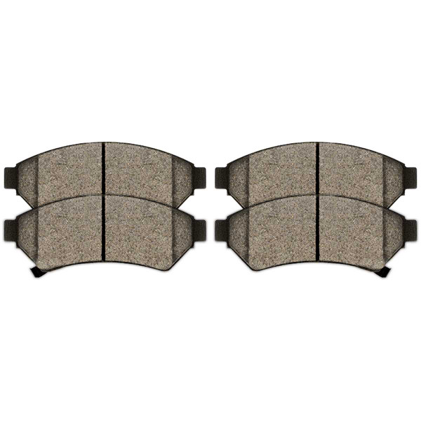 Front and Rear Semi Metallic Brake Pad Bundle - Part # SMK1075-999