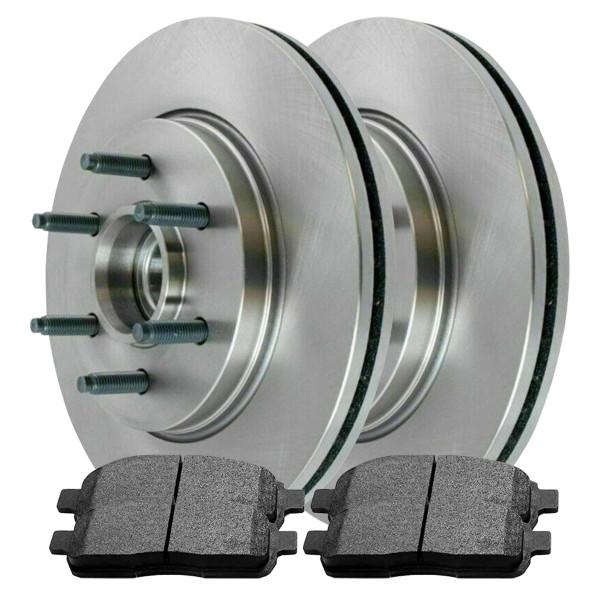 [Front Set] 2 Brake Rotors & 1 Set Semi Metallic Brake Pads - Part # SMK1083-R64109