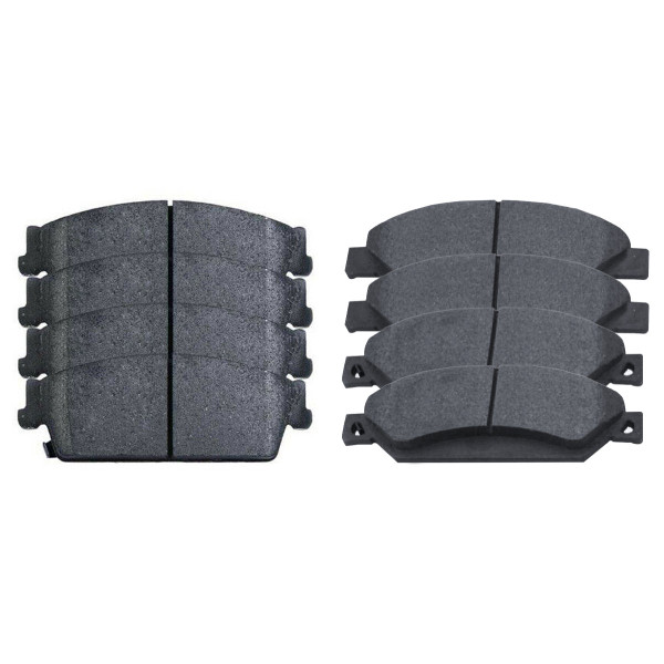 Front and Rear Semi Metallic Brake Pad Bundle 4 Wheel Disc - Part # SMK1092-1194