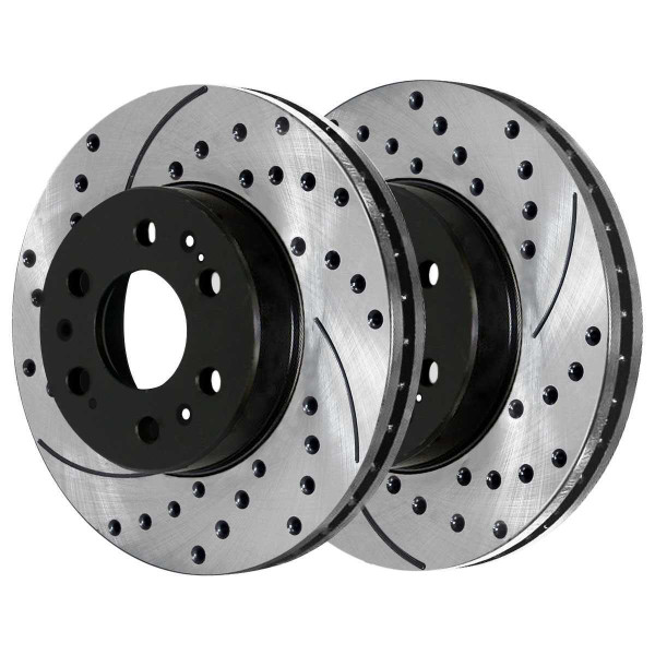 Front and Rear Semi Metallic Brake Pad and Performance Rotor Bundle - Part # SMK1092PR65099