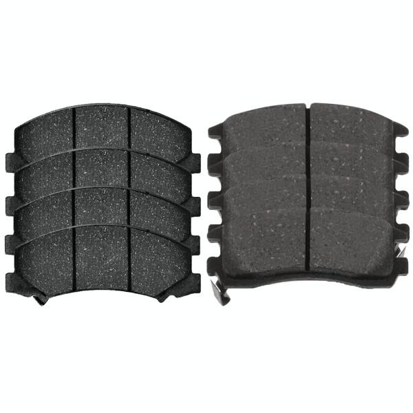 Front and Rear Semi Metallic Brake Pad Bundle - Part # SMK1159-698