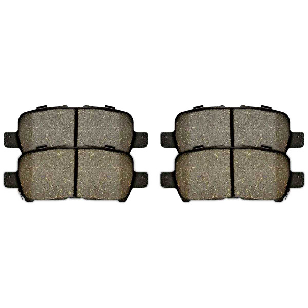 Front and Rear Semi Metallic Brake Pad Bundle - Part # SMK1159-999