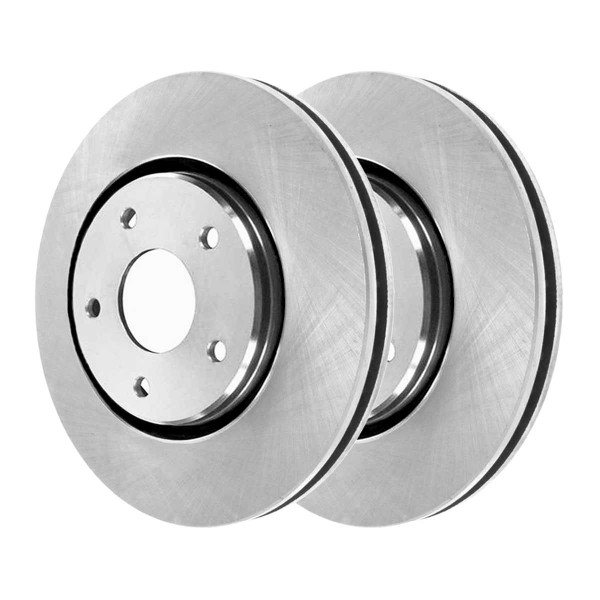 Front and Rear Semi Metallic Brake Pad and Rotor Bundle 11.89 Inch Front Rotor Diameter 12 Inch Rear Rotor Diameter - Part # SMK12737334