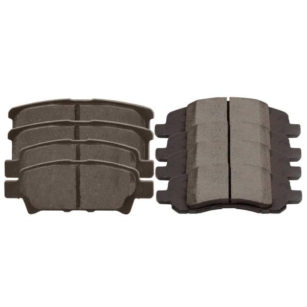 Front and Rear Semi Metallic Brake Pad Bundle 4 Wheel Disc - Part # SMK1285-1037