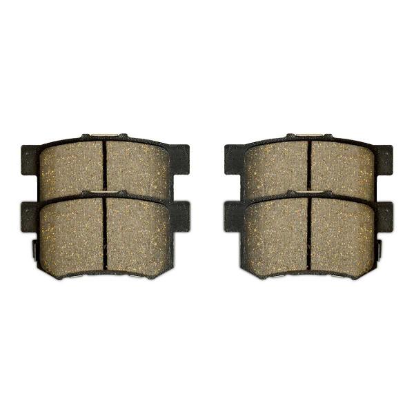 Front and Rear Semi Metallic Brake Pad Bundle - Part # SMK465A-537