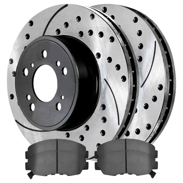Front Semi Metallic Brake Pad and Performance Rotor Bundle - Part # SMK465A-PR41313LR
