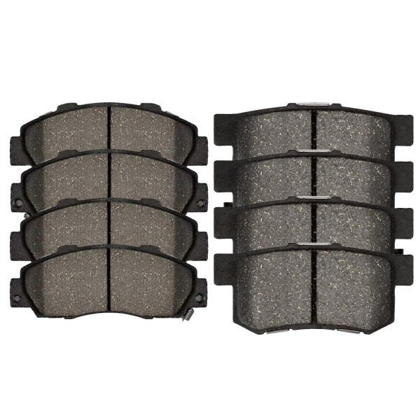 Front and Rear Semi Metallic Brake Pad Bundle - Part # SMK503-536