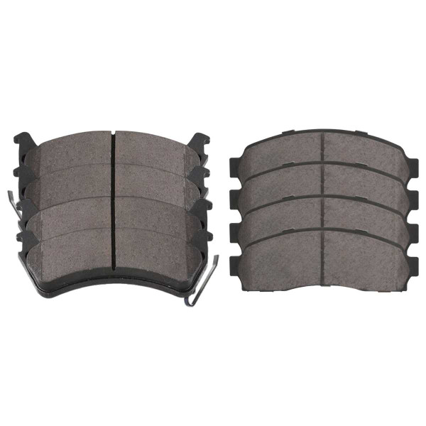 Front and Rear Semi Metallic Brake Pad Bundle - Part # SMK652-667