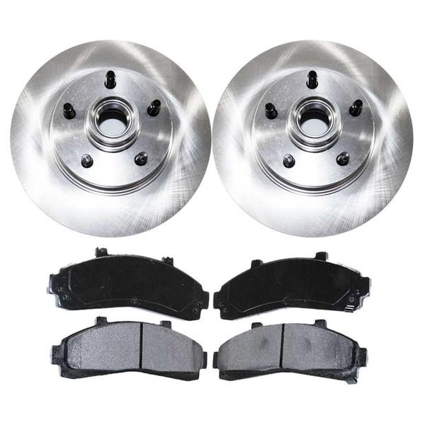 [Premium Front Set] 2 Rotors & 4 Semi Metallic Pads - Part # SMK652R64031