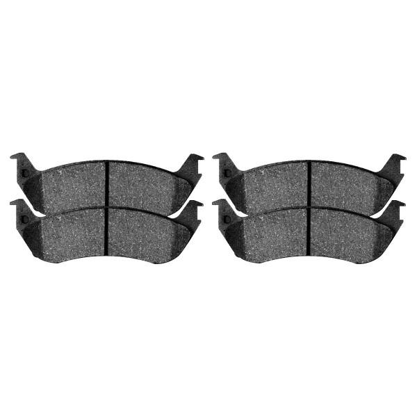 Front and Rear Semi Metallic Brake Pad Bundle 4 Wheel Disc - Part # SMK679-879