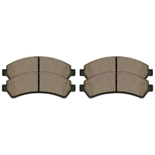 Front and Rear Semi Metallic Brake Pad Bundle 4 Wheel Disc - Part # SMK726-729
