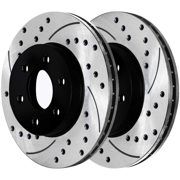 Front and Rear Semi Metallic Brake Pad and Performance Rotor Bundle 325mm by 85mm Rear Rotor - Part # SMK785PR65056