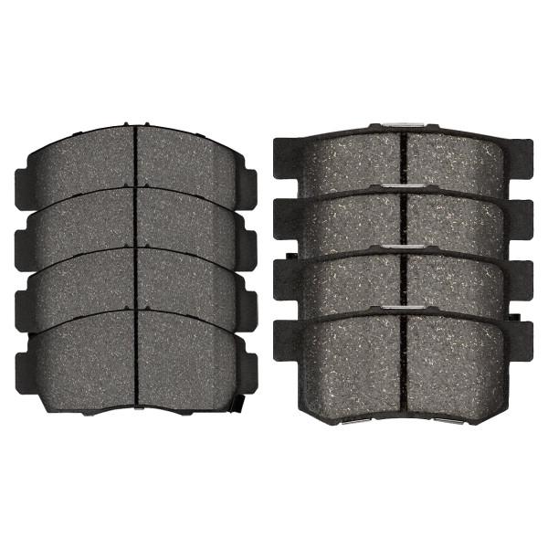 Front and Rear Semi Metallic Brake Pad Bundle - Part # SMK787-536