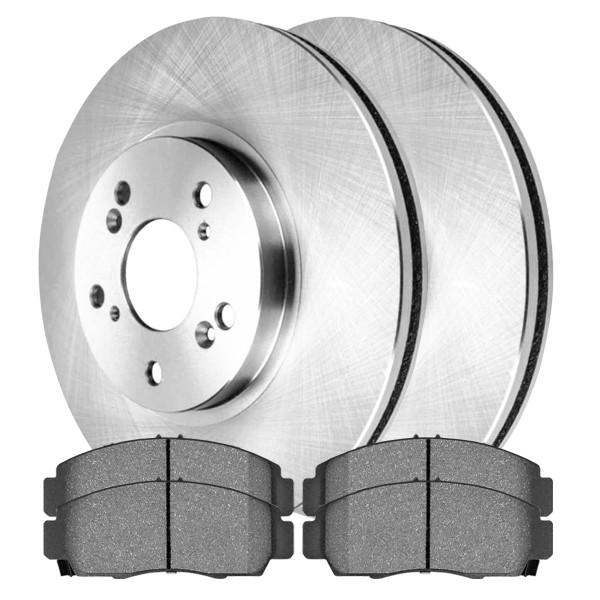 [Front Set] 2 Brake Rotors & 1 Set Semi Metallic Brake Pads - Part # SMK787R41521