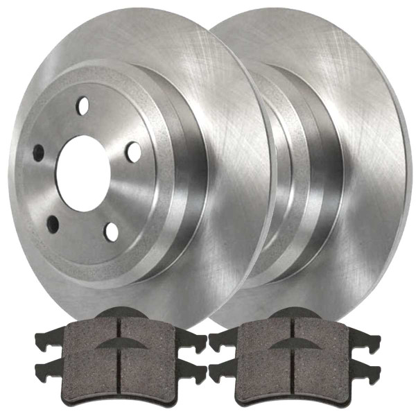 Front and Rear Semi Metallic Brake Pad and Rotor Bundle - Part # SMK7916120
