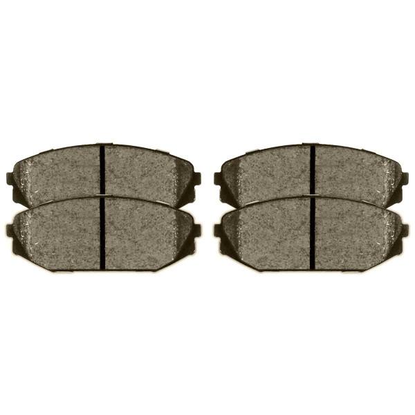 Front and Rear Semi Metallic Brake Pad Bundle - Part # SMK793-865