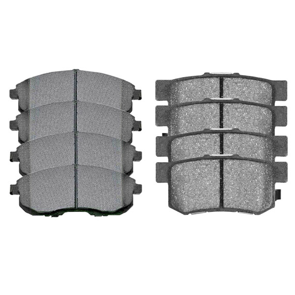 Front and Rear Semi Metallic Brake Pad Bundle 4 Wheel Disc - Part # SMK815A-537
