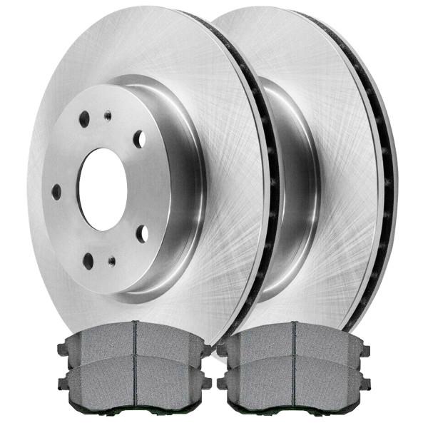 [Front Set] 2 Brake Rotors & 1 Set Semi Metallic Brake Pads - Part # SMK815A-R41501