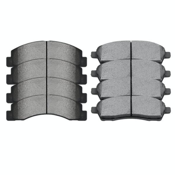 Front and Rear Semi Metallic Brake Pad Bundle - Part # SMK824-757
