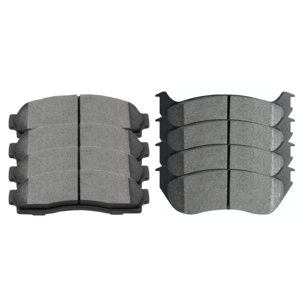Front and Rear Semi Metallic Brake Pad Bundle - Part # SMK833-881