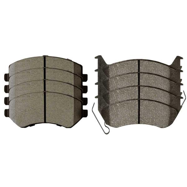 Front and Rear Semi Metallic Brake Pad Bundle - Part # SMK856A-981