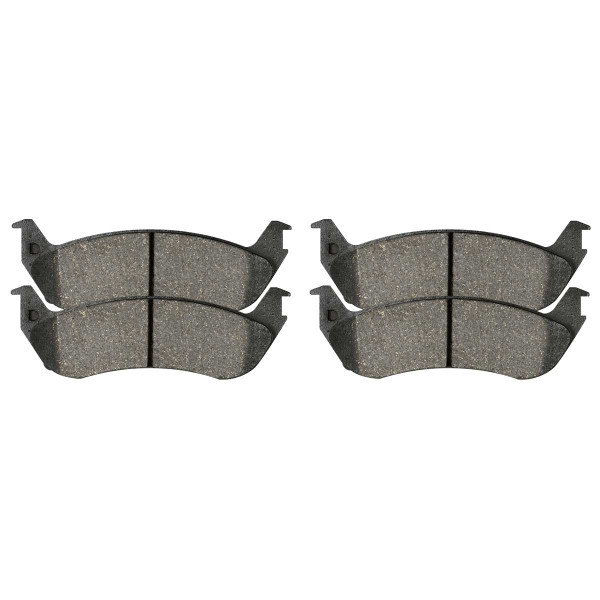 Rear Semi Metallic Brake Pad Set 4 Wheel Disc - Part # SMK879
