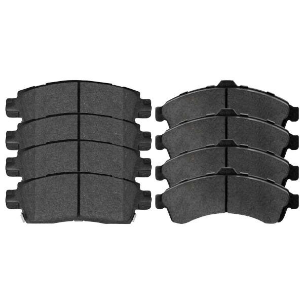 Front and Rear Semi Metallic Brake Pad Bundle - Part # SMK882-883