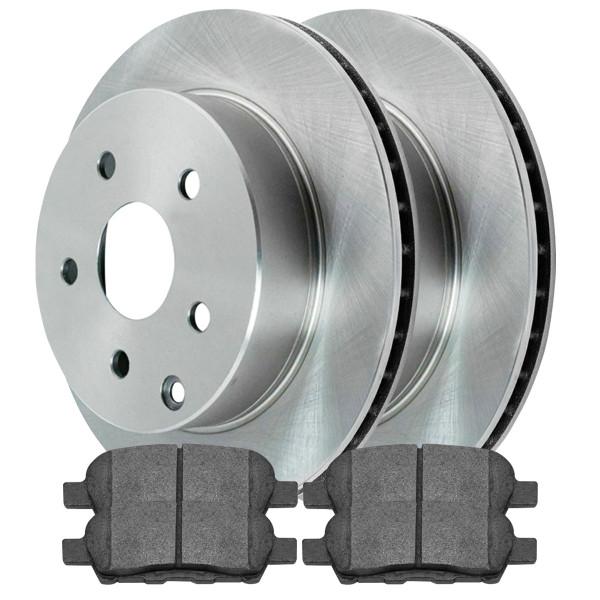 [Rear Set] 2 Brake Rotors & 1 Set Semi Metallic Brake Pads - Part # SMK905R41351