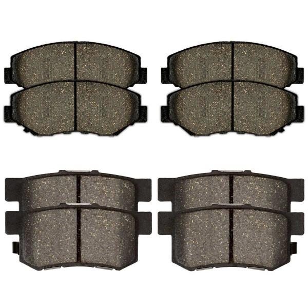 Front and Rear Semi Metallic Brake Pad Bundle - Part # SMK914-536