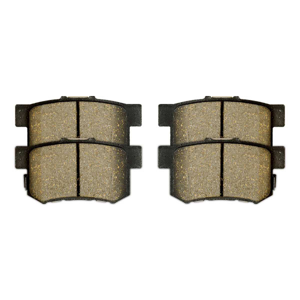 Front and Rear Semi Metallic Brake Pad Bundle 4 Wheel Disc - Part # SMK914-537