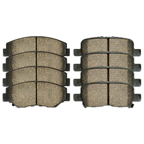 Front and Rear Semi Metallic Brake Pad Bundle - Part # SMK914-865