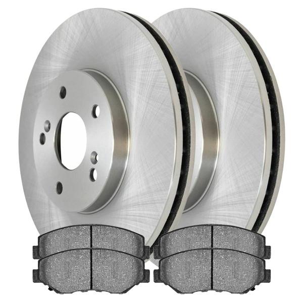 [Front Set] 2 Brake Rotors & 1 Set Semi Metallic Brake Pads - Part # SMK914-R41277