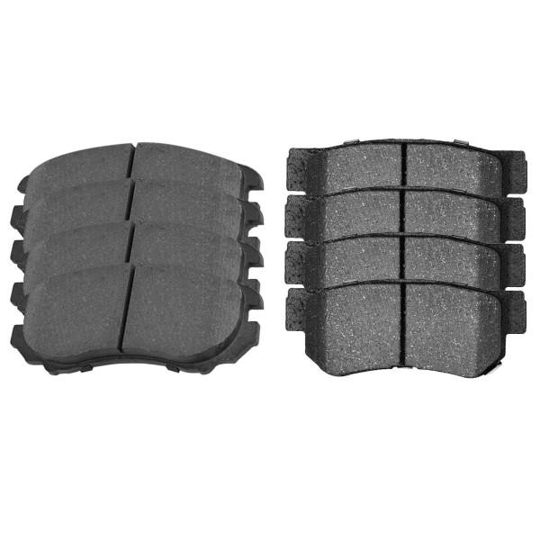Front and Rear Semi Metallic Brake Pad Bundle 4 Wheel Disc - Part # SMK924-813