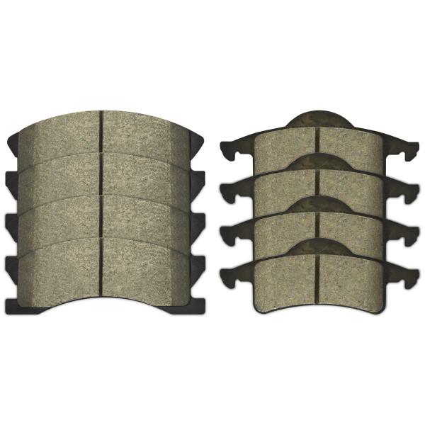 Front and Rear Semi Metallic Brake Pad Bundle - Part # SMK945-791