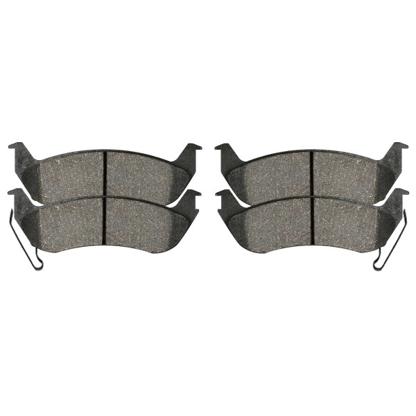 Rear Semi Metallic Brake Pad Set 4 Wheel Disc - Part # SMK981