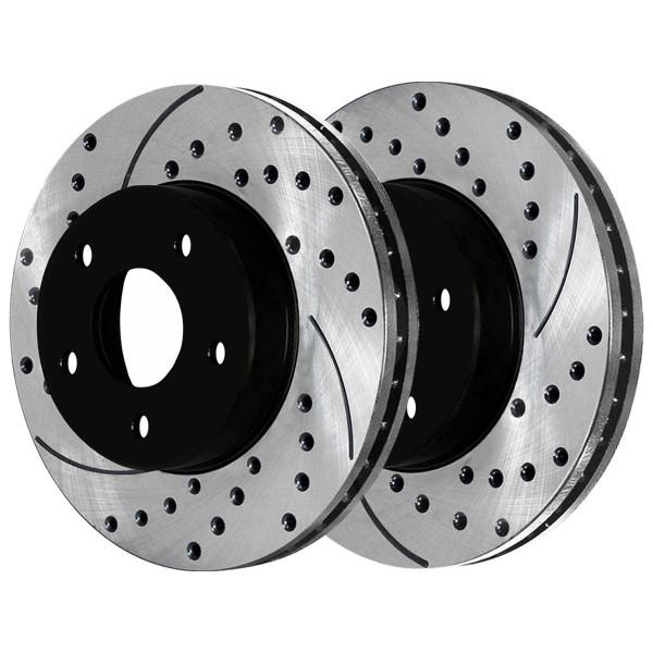 Front Semi Metallic Brake Pad and Performance Rotor Bundle - Part # SMKPR4130841308815A