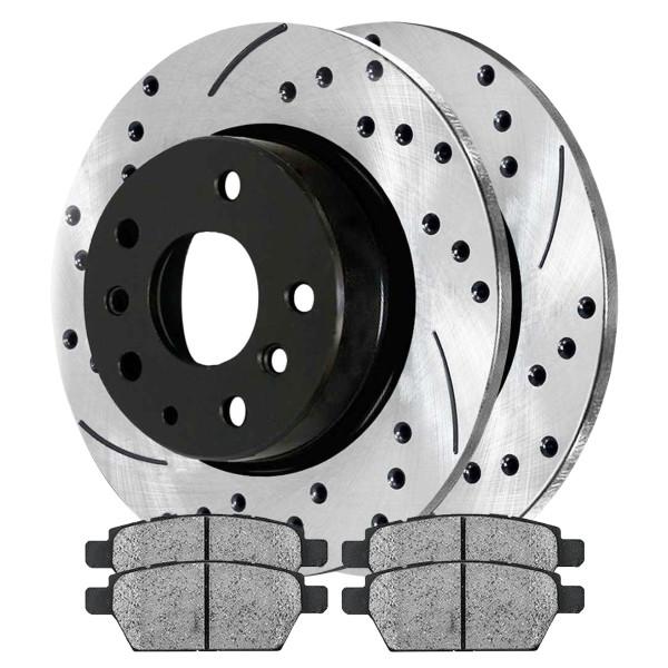Rear Semi Metallic Brake Pad and Performance Rotor Bundle - Part # SMKPR41327413271161