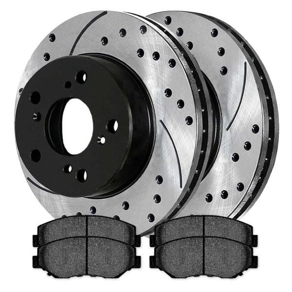 Front Semi Metallic Brake Pad and Performance Rotor Bundle - Part # SMKPR4134941349914