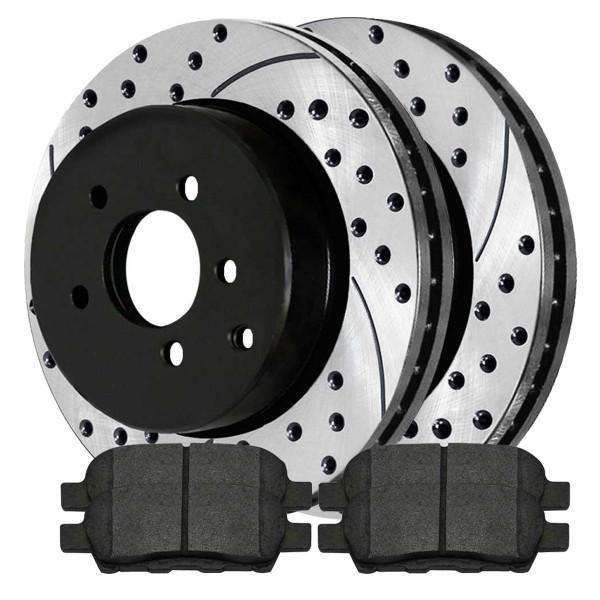Rear Semi Metallic Brake Pad and Performance Rotor Bundle - Part # SMKPR4135041350905
