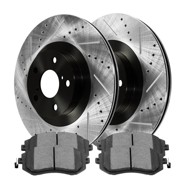 Front Semi Metallic Brake Pad and Performance Rotor Bundle - Part # SMKPR4140941409929