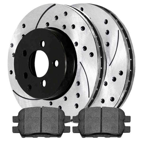 Rear Semi Metallic Brake Pad and Performance Rotor Bundle - Part # SMKPR4153241532905