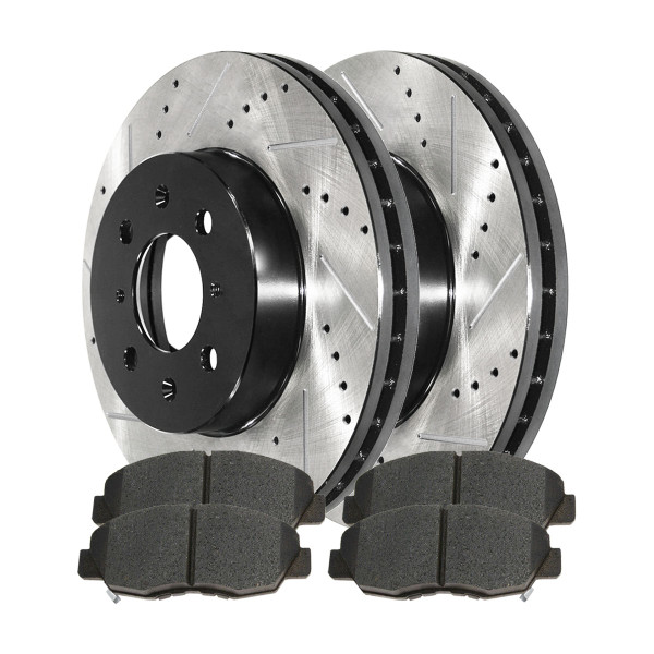 Front Semi Metallic Brake Pad and Performance Rotor Bundle - Part # SMKPR42974297465A