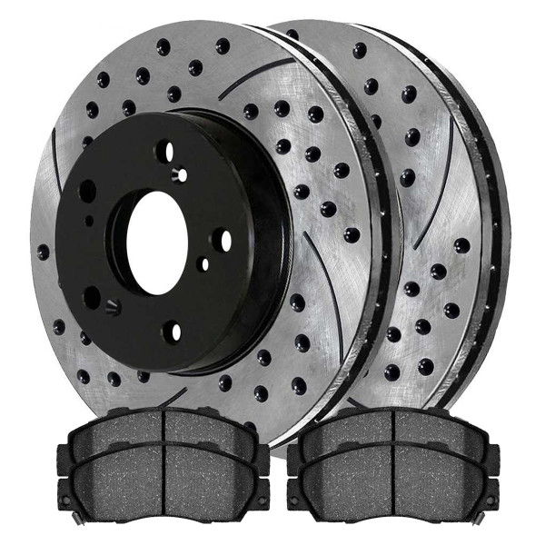 Front Semi Metallic Brake Pad and Performance Rotor Bundle - Part # SMKPR42984298503