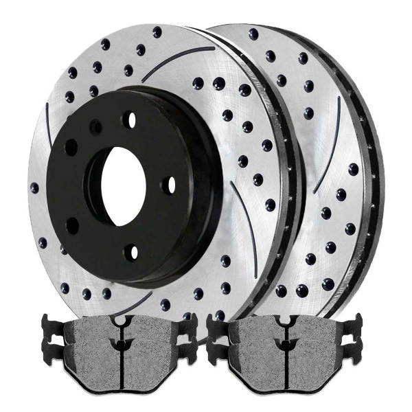 Rear Semi Metallic Brake Pad and Performance Rotor Bundle 294mm Rotor Diameter - Part # SMKPR4422244222763