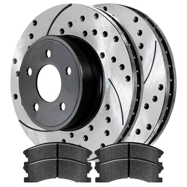 Front Semi Metallic Brake Pad and Performance Rotor Bundle - Part # SMKPR61206120945