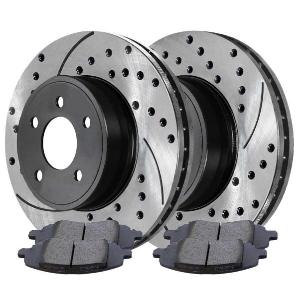 Front Semi Metallic Brake Pad and Performance Rotor Bundle - Part # SMKPR63040630401285