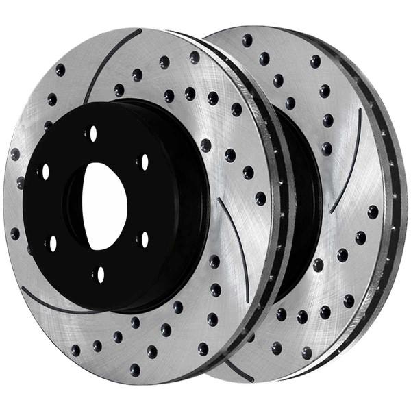 Rear Semi Metallic Brake Pad and Performance Rotor Bundle 325mm Rotor Diameter 85mm Height - Part # SMKPR6506865068792