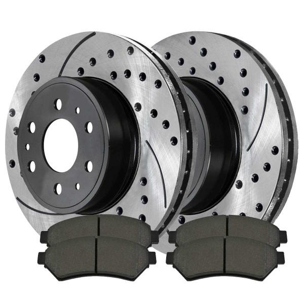 Front Semi Metallic Brake Pad and Performance Rotor Bundle - Part # SMKPR65120651201075