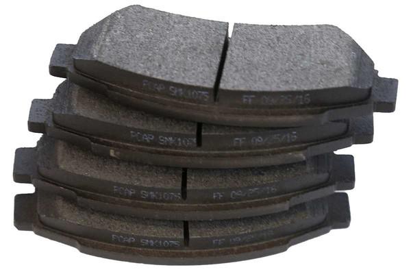 [Set] 2 Drilled & Slotted Performance Brake Rotors & 1 Set Semi Metallic Brake Pads - Part # SMKPR65120651201075